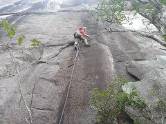 Rock Climbing Photo: P-1 traverse