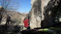 Rock Climbing Photo: Brad at the start of Razor Edge.