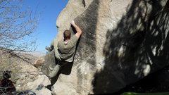 Rock Climbing Photo: Nick working up Razor Edge.