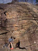 Rock Climbing Photo: Ken's Crack the saturday after hurricane Sandy. Th...