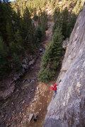 Rock Climbing Photo: Jonas 'Sweden' Wallin on the first ascent.