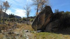 Rock Climbing Photo: Reaching the crimp.