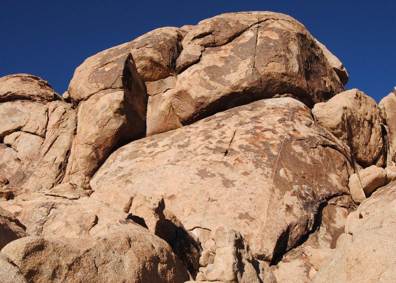 Rock Climbing Photo: Reggie Dome SW. Photo by Blitzo.