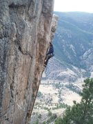 Rock Climbing Photo: The upper face is steep!