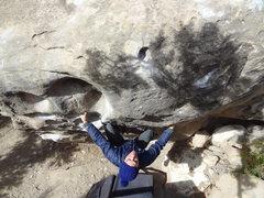Rock Climbing Photo: Josh working up Reach Around left...