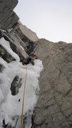 Rock Climbing Photo: Pitch 3, Fields Chimney, Long's Peak.