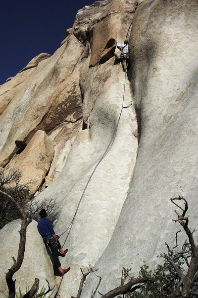 Rock Climbing Photo: Parental Guidance.  The soft crux is just beyond t...
