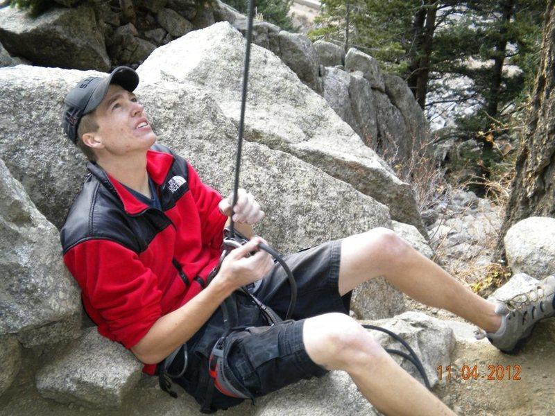 Rock Climbing Photo: Just belayin'