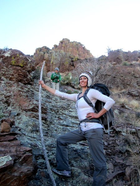 Rock Climbing Photo: That was the best stick ever! (On the descent from...
