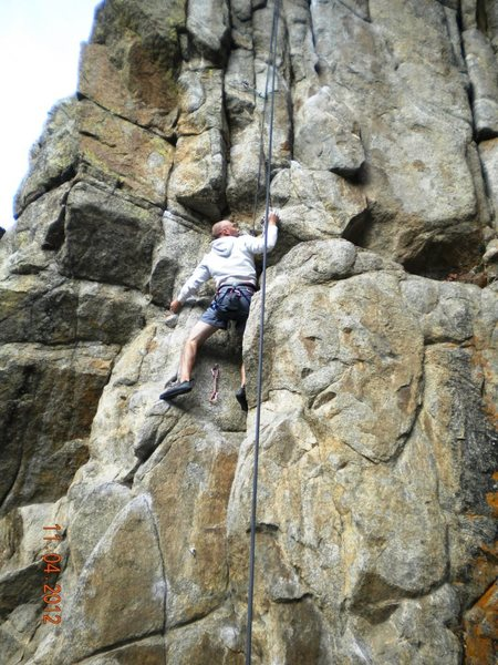 Rock Climbing Photo: EN working up Dominator.