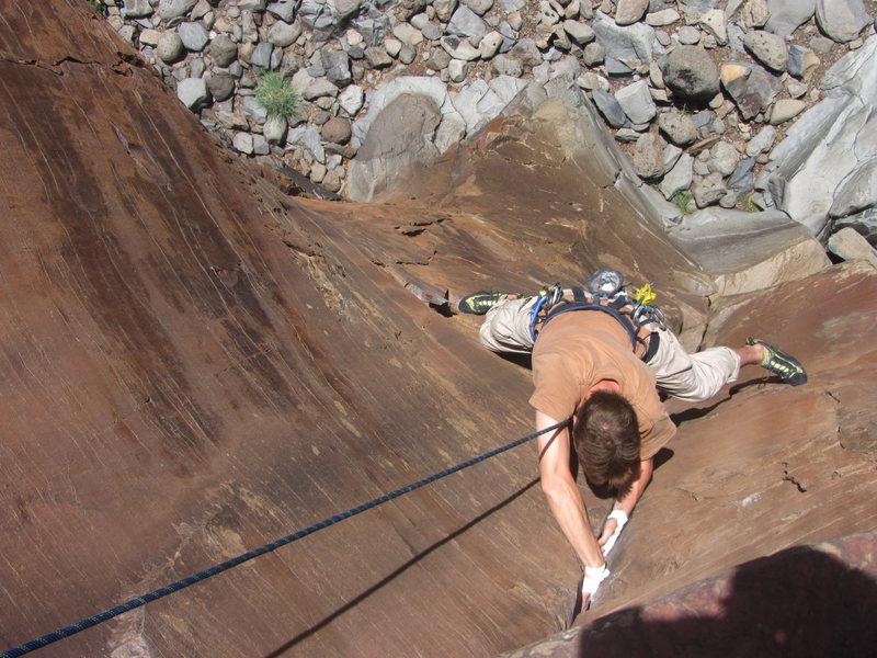 Rock Climbing Photo: CH top-roping Hopping