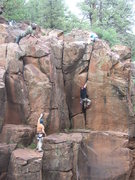 Rock Climbing Photo: Upper part of the Yogi Cracks