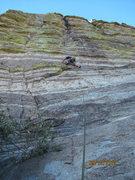 Rock Climbing Photo: Brad Montgomery leading Space Cowboy