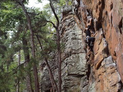 Rock Climbing Photo: Stacy on Private Property