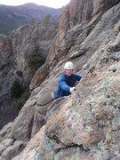 Rock Climbing Photo: Bud Saults tops out Vegan.