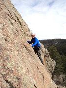 Rock Climbing Photo: Bud tries Peachtree Street.