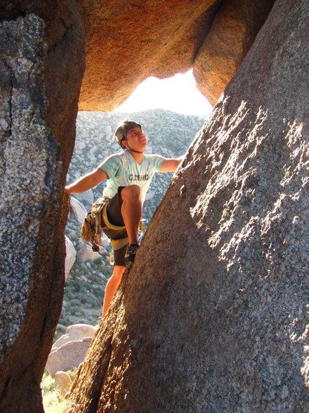 Rock Climbing Photo: Climbing Back to the Wall