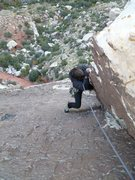 Rock Climbing Photo: Trish is working on the 3-points-off Sylvester Sta...