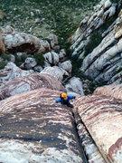 Rock Climbing Photo: Irina gets lost in the chocolaty-vanilla swirlzzz....
