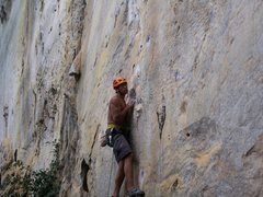 Rock Climbing Photo: Rajiv cruising the first 20 feet!