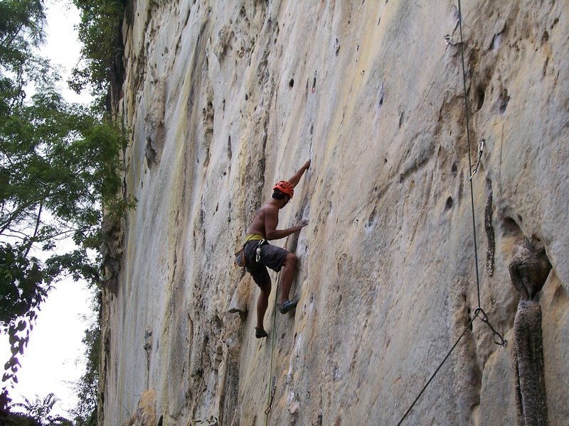 Rajiv ascending in good style<br>