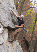 Rock Climbing Photo: first crux