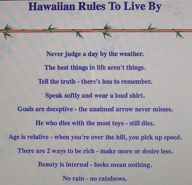 IMO: By following some of these simple guide lines your life will become exponentially simpler.