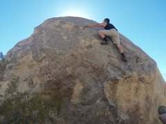 Rock Climbing Photo: The Unforgiving slab top out, angle is nice but th...