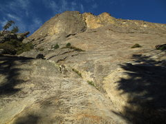 Rock Climbing Photo: The siege follows the prominent crack system  in t...