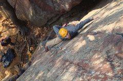 Rock Climbing Photo: Daniel Sans Crainte on Thoroughfare. Nov 2012.