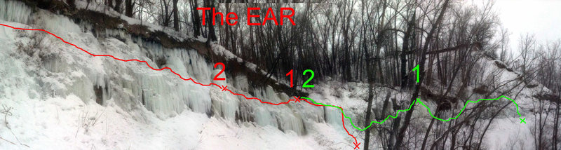 The Ear<br> Approximately how we pitched it out on two different days.<br> Try it, it's fun if you're stuck here in MN.