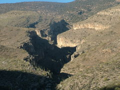 Rock Climbing Photo: Looking up the canyon.  I don't recommend approach...