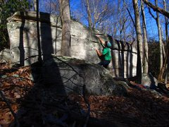 Rock Climbing Photo: Aaron James Parlier on the Warm-Up Boulder