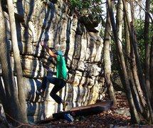 "Rock Climbing Photo: Aaron James Parlier warming up on ""Triangulat..."
