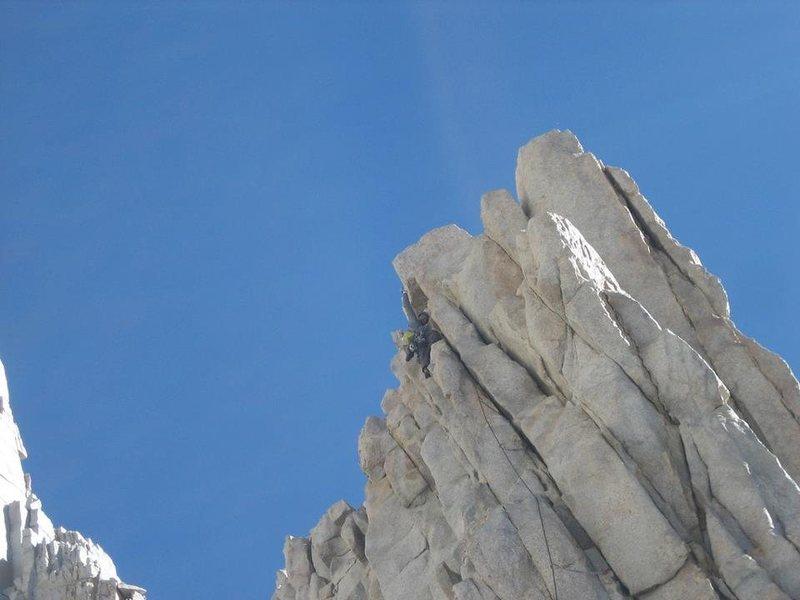 Rock Climbing Photo: Pitch 3 Crux