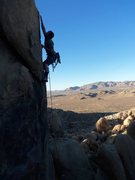 Rock Climbing Photo: Just past 3rd bolt, this is a good rest before top...