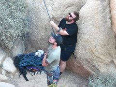 Rock Climbing Photo: Me and Eddie watching Danielle in the Dead Zone