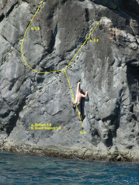Rock Climbing Photo: David Enloe on Slalom
