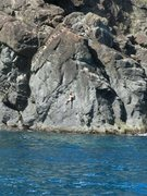Rock Climbing Photo: What it looks like from the water. Classic moderat...
