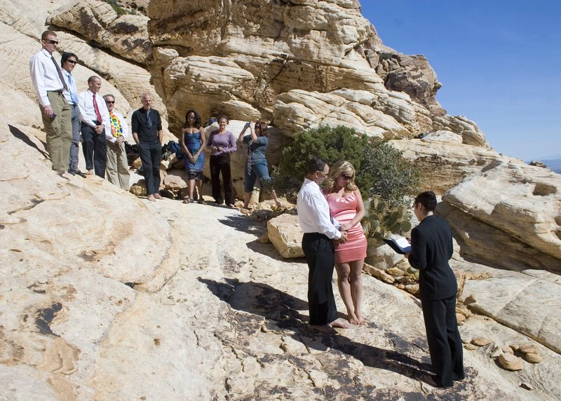 Rock Climbing Photo: Exchanging our vows..