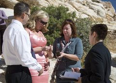 Rock Climbing Photo: Exchanging rings...