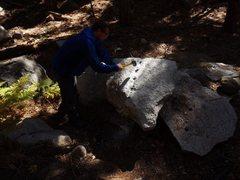 Rock Climbing Photo: Justin cuttin stone