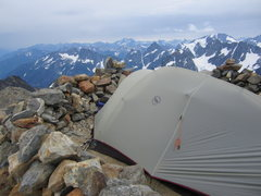 Rock Climbing Photo: High camp for Sahale Peak