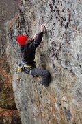 Rock Climbing Photo: Joseph near the end when the continuous crimps rea...
