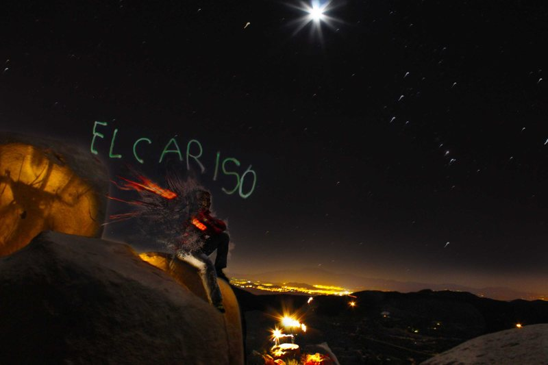 late night bouldering, just learning photoshop