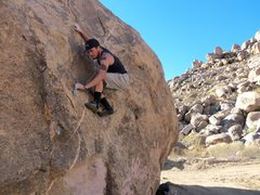 Rock Climbing Photo: Working the large boulder behind the HorseMans Cen...
