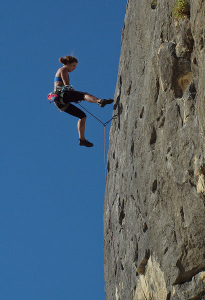 Rock Climbing Photo: Getting some air!