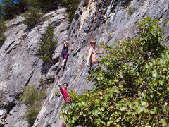Rock Climbing Photo: Here are new members of the KURC getting their fir...