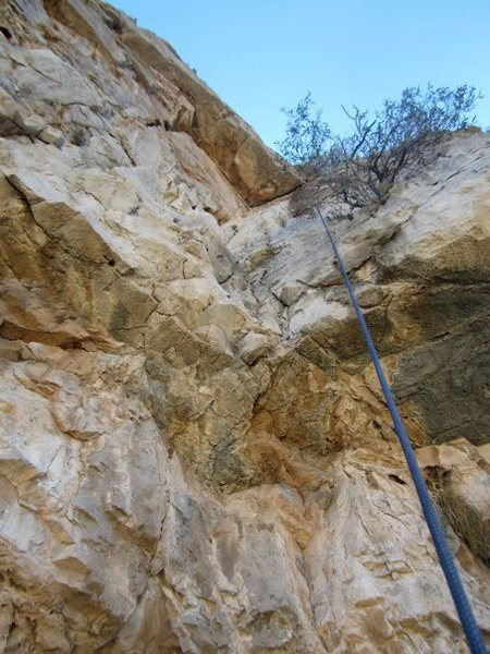 Looking up the climb from the first big ledge.