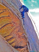 Rock Climbing Photo: All over the route but esp upper pitches require t...